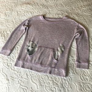 """Other - Long Sleeve """"Pocket Doggy"""" lightweight sweater"""